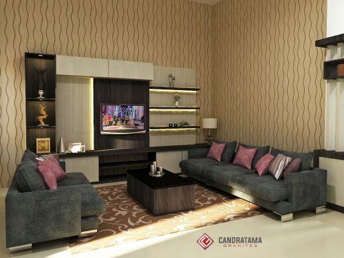 rak tv custom ruang keluarga