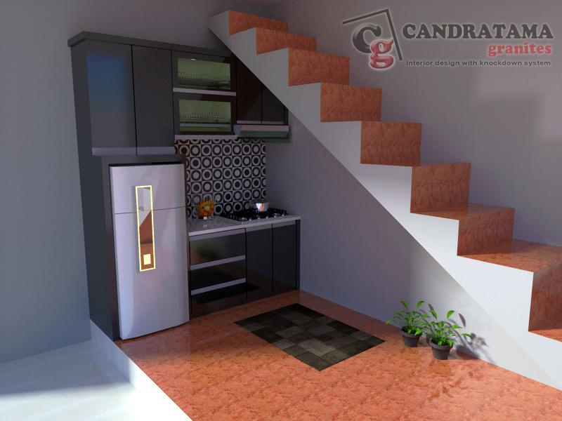 Kitchen Set Bawah Tangga Minimalis Di Puncak Jaya