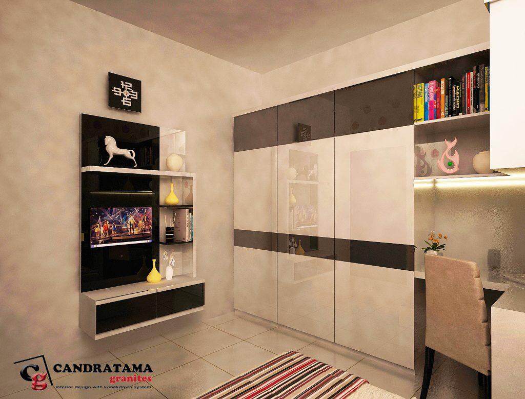 backdrop tv gantung dinding