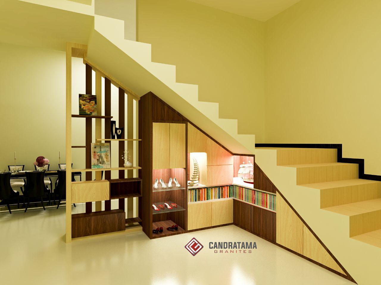 lemari bawah tangga minimalis modern