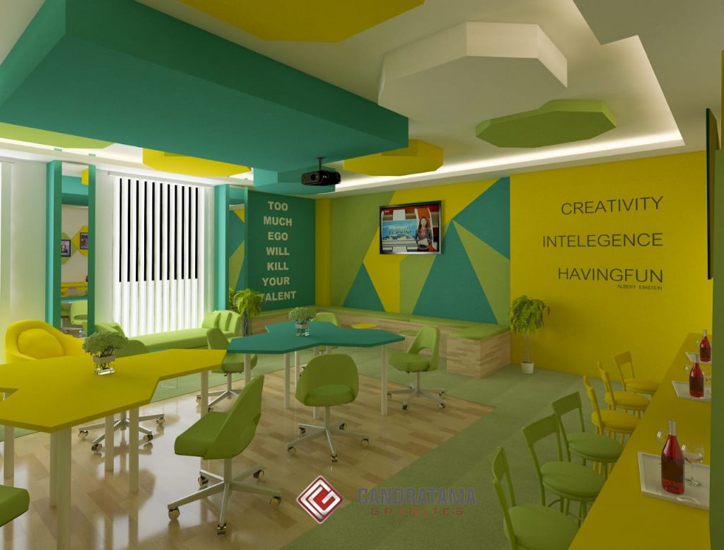 konsep desain interior kantor modern