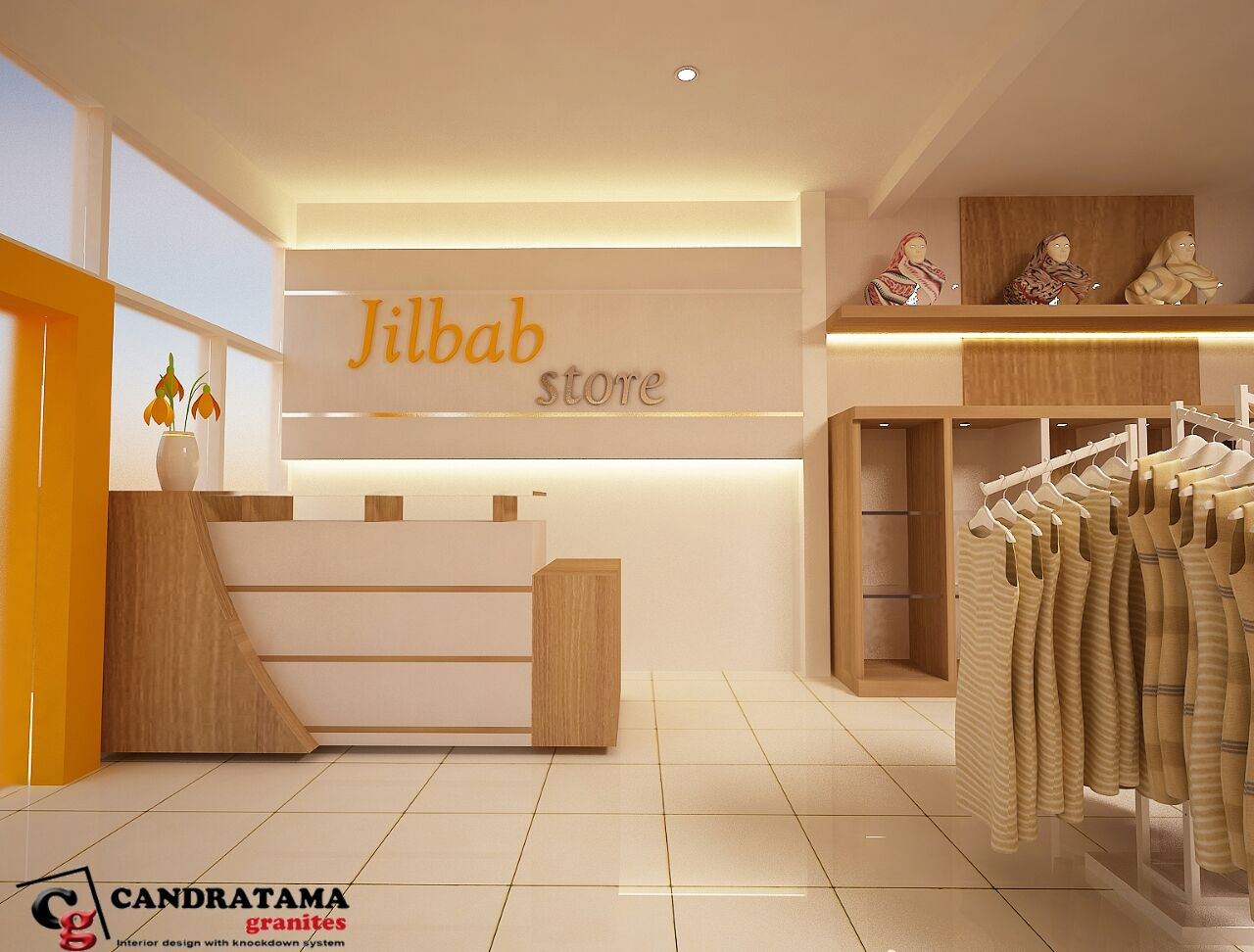 desain interior butik simple sederhana