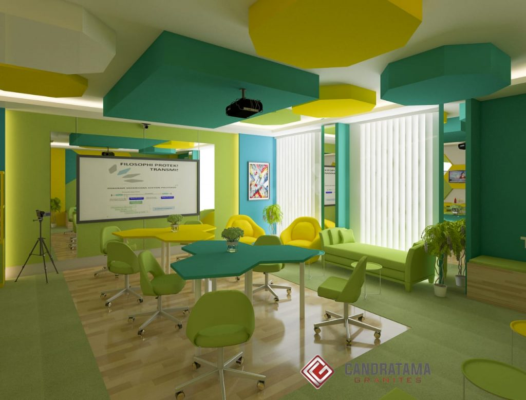 RUANG MEETING KLASIK MODERN DI BALIKPAPAN interior ruang rapat atau meeting kantor
