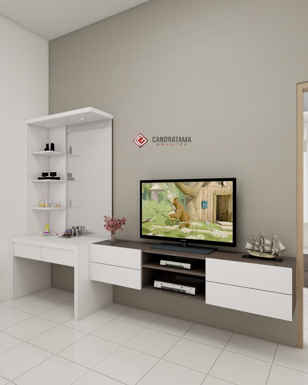 tv cabinet backdrop
