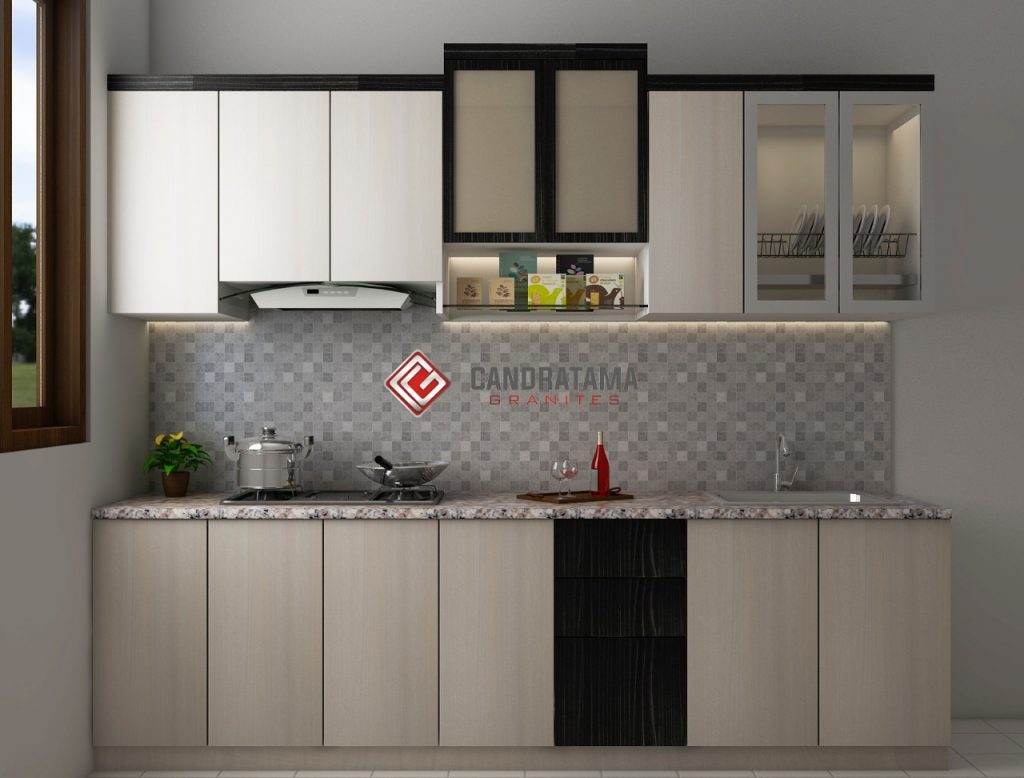 Mendesain dapur dengan Kitchen set minimalis rak dapur unik