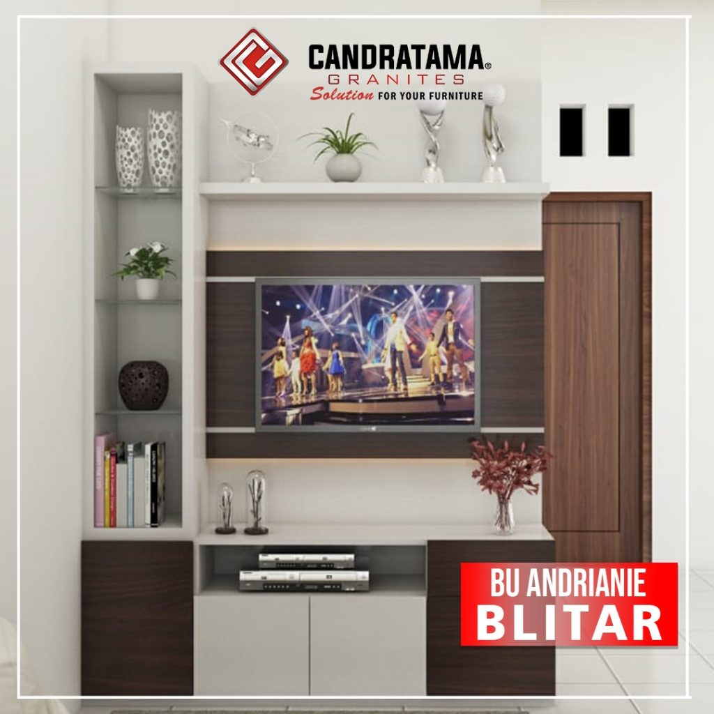 meja rak backdrop TV