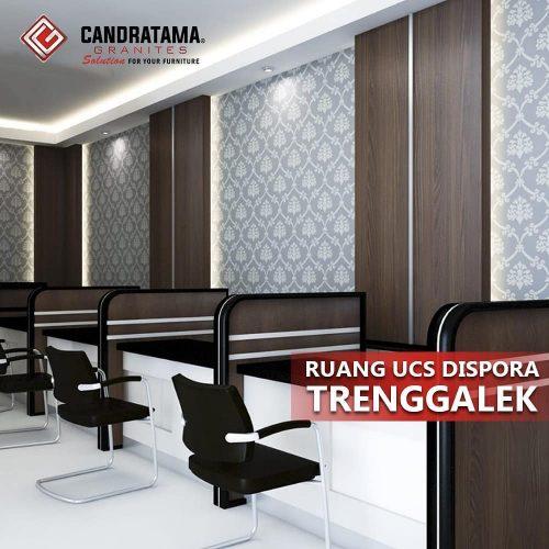 partisi ruangan untuk kantor Ruang UCS Diaspora Trenggalek