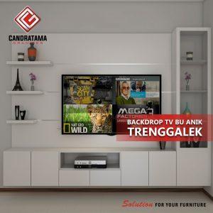 BACKDROP TV BRACKET FUNGSIONAL DI KEDIRI