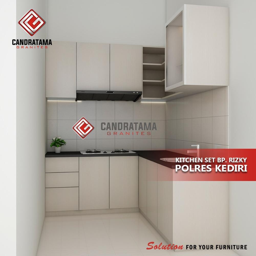 kitchen set minimalis putih