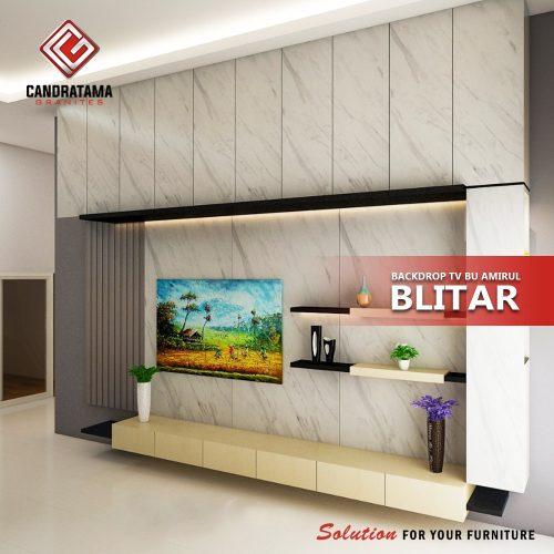ruang keluarga backdrop tv