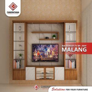 BENTUK INTERIOR BACKDROP TV DI MALANG
