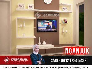 JASA DESAIN INTERIOR BACKDROP RAK TV MINIMALIS MODERN NGANJUK CANDRATAMA GRANITES Hub Sari 0812 5247 4309