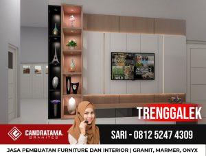 JASA DESAIN INTERIOR BACKDROP RAK TV MINIMALIS MODERN TRENGGALEK CANDRATAMA GRANITES Hub Sari 0812 5247 4309