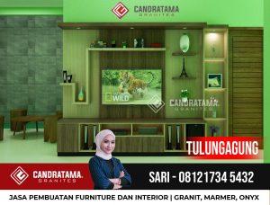 JASA DESAIN INTERIOR BACKDROP RAK TV MINIMALIS MODERN TULUNGAGUNG CANDRATAMA GRANITES Hub Sari 0812 5247 4309