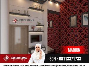 Jual Desain Interior Backdrop Tv HPL Modern Hunian Minimalis